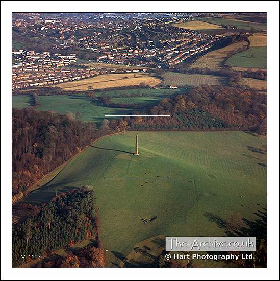 Aerial photograph of Wychbury Hill & Monument