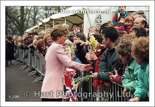 The official opening of Mary Stevens Hospice by Diana Princess of Wales