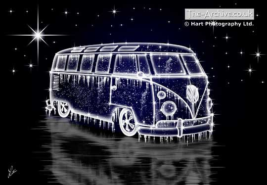 Volkswagen Ice Splitty Van Digital Art Picture