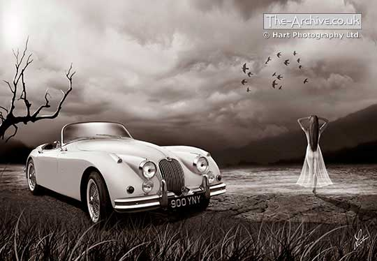 Jaguar XK150 Digital Art Painting