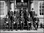 Group photograph of police officers at Lye police station 1967